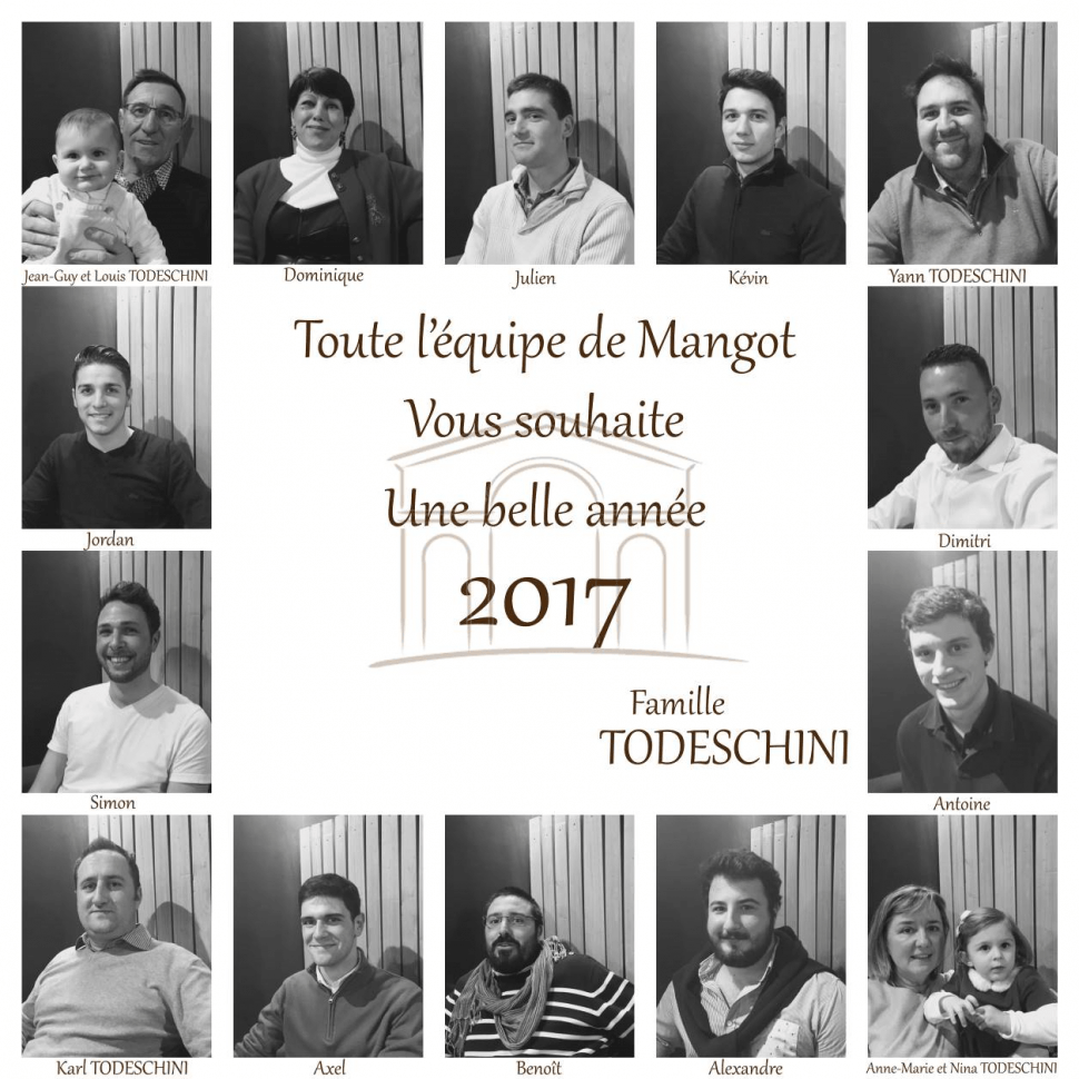 Château Mangot vous souhaite une belle et heureuse année 2017 !