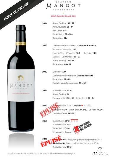 L'âme d'un grand vin pour Todeschini Château Mangot !