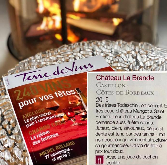 Château LA BRANDE, star des fêtes de fin d'année !