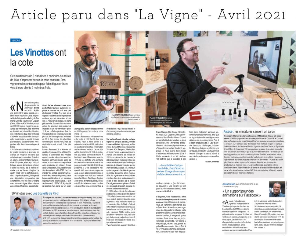 Vinottes & Dégustation virtuelle à Mangot